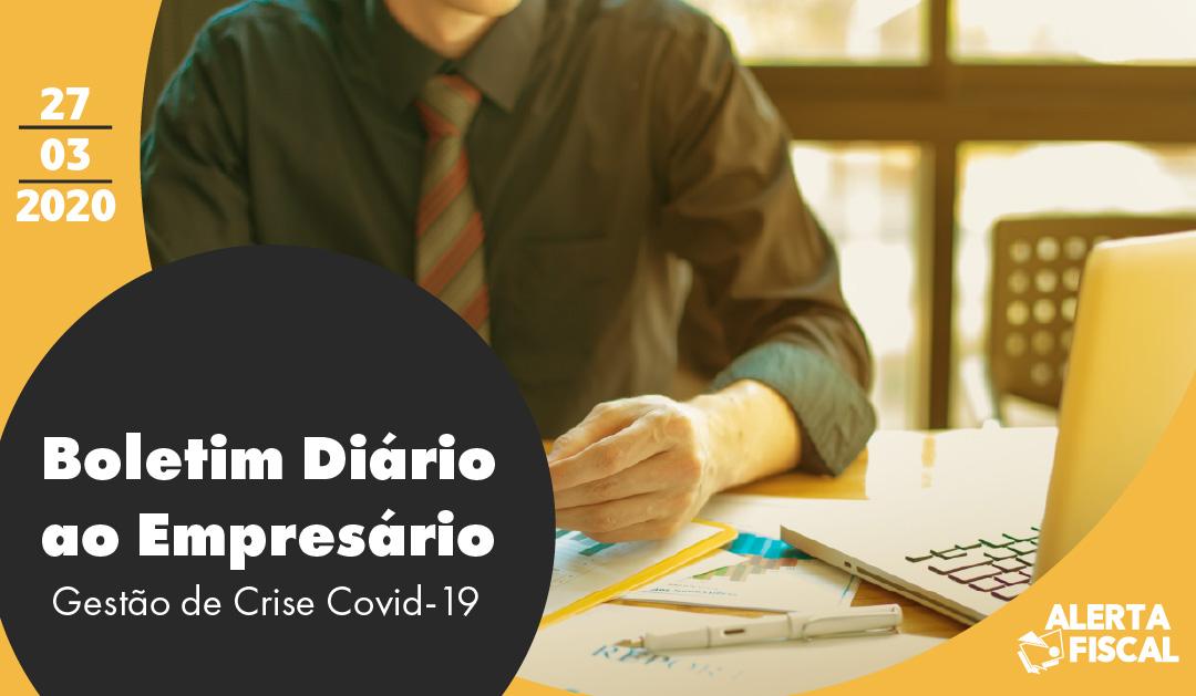 Boletim diário ao Empresário | 27/03